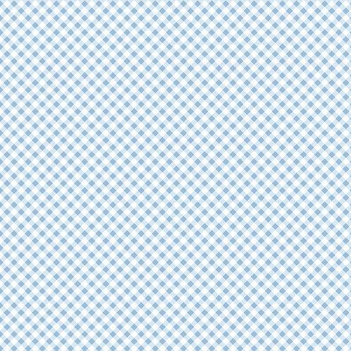 Micro Xadrez Azul Claro