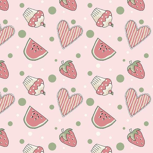 Mini Morangos e cupcakes rosa