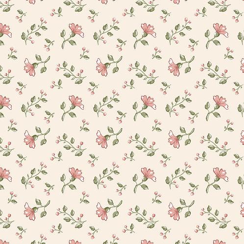 Mini Floral Campestre Bege