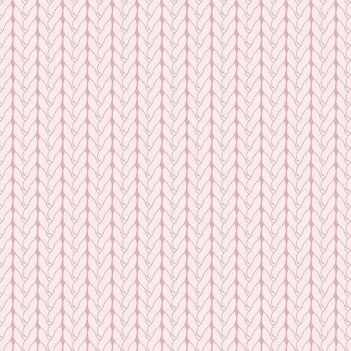 Tricô básico rosa