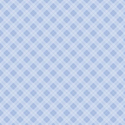 Hexágonos baby azul