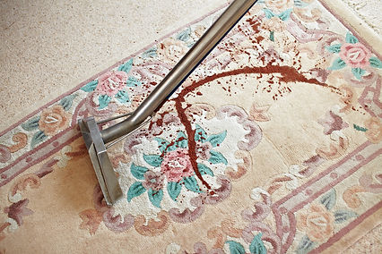 Stained rug