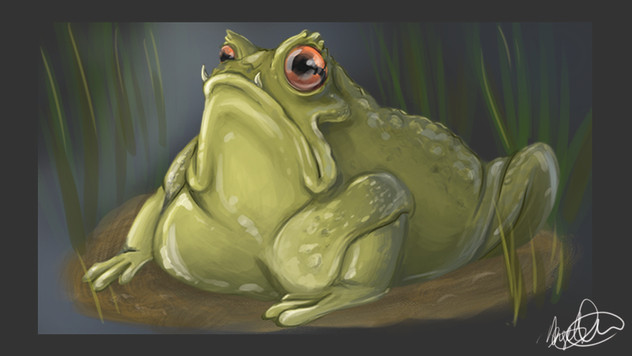 Frog: Digital Painting