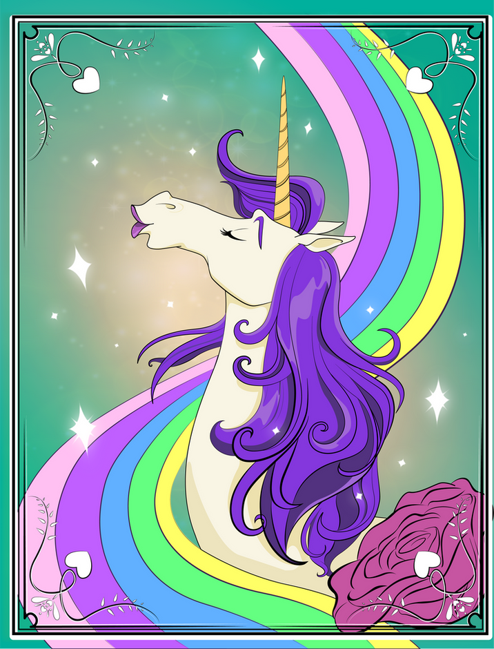 Unicorn Poster on Chelsea's Bedroom Door