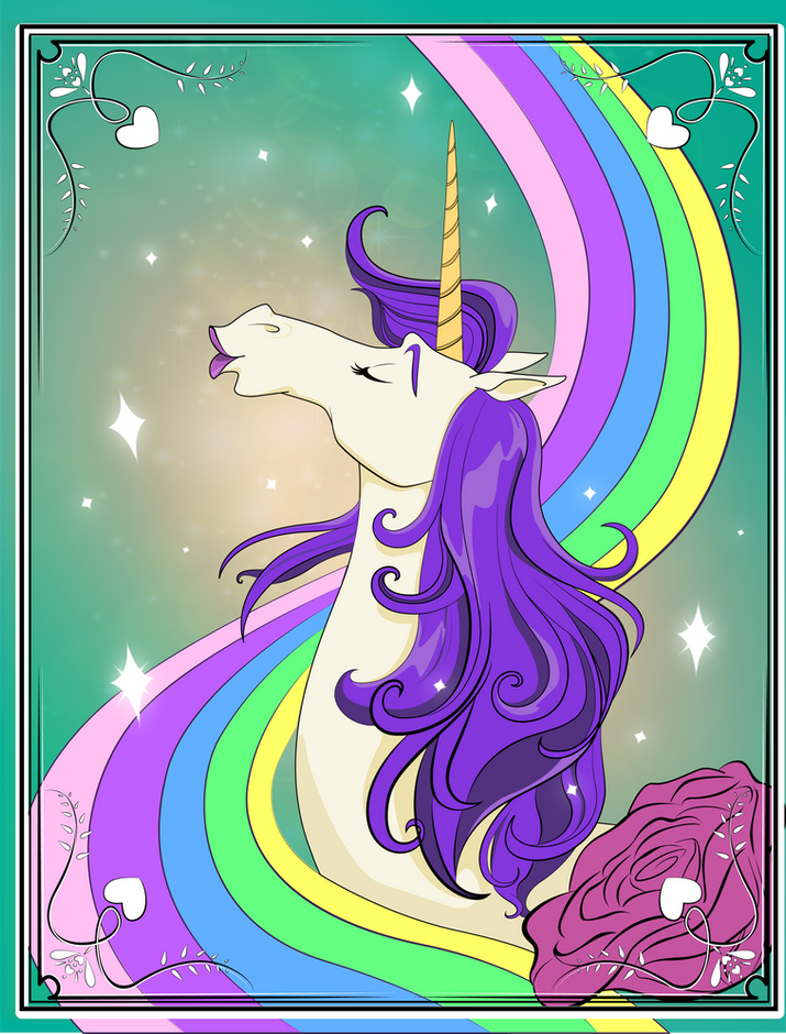 Unicorn Poster on Chelsea's Bedroom Door