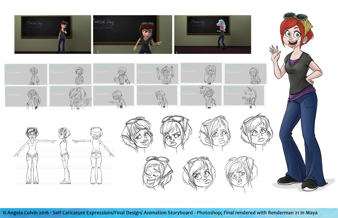 Self Caricature and Animation Storyboard