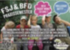 Werbeanzeige FSJBFD praxissemester quer.