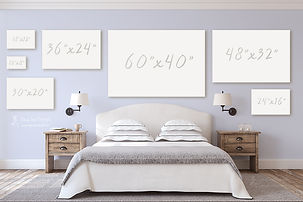 Canvas sizes for a bedroom