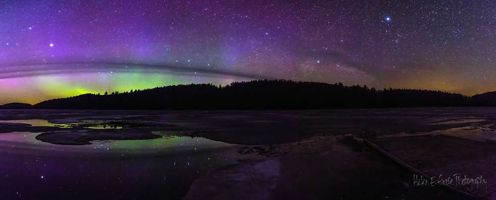 Aurora Borealis (Northern Lights) photographed in Algonquin Provincial Park