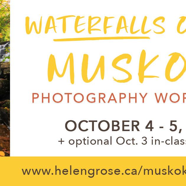 Waterfalls of Muskoka Photography Workshop 2022