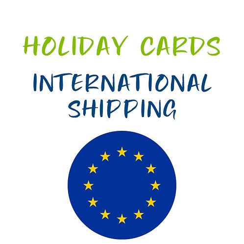 Holiday Card Shipping International