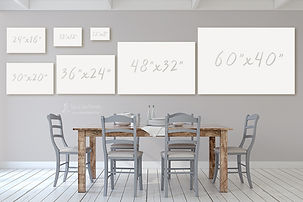 Canvas sizes for a dining room