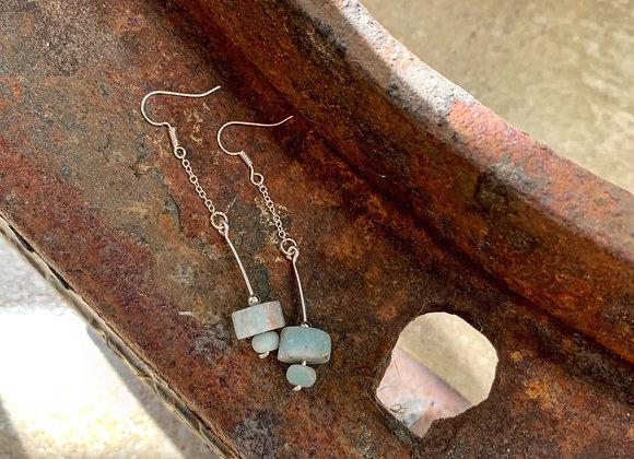 Amazonite Wheel Earrings