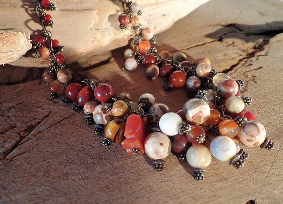 Agate and Jasper Necklace