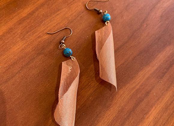 Copper Mesh Earrings