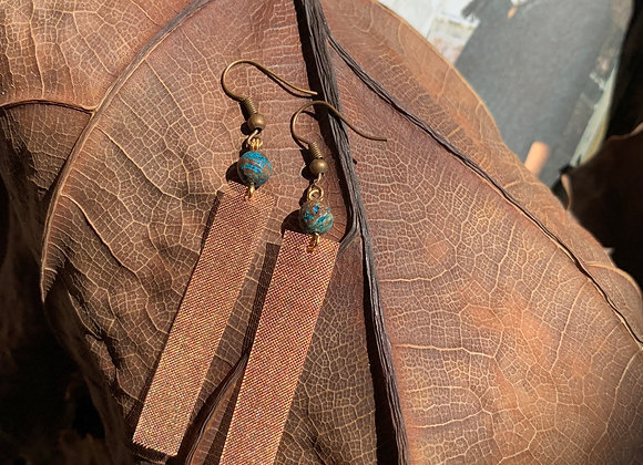 Copper Mesh Earrings