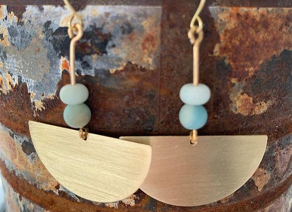 Brass + Amazonite Earrings