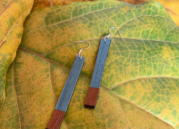 Wood & Suede Earrings