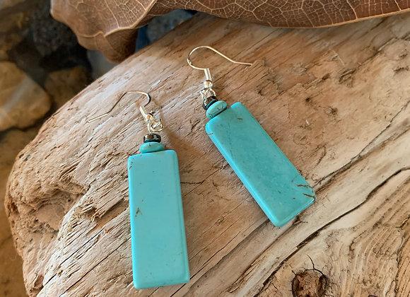 Turquoise Geometric Earrings
