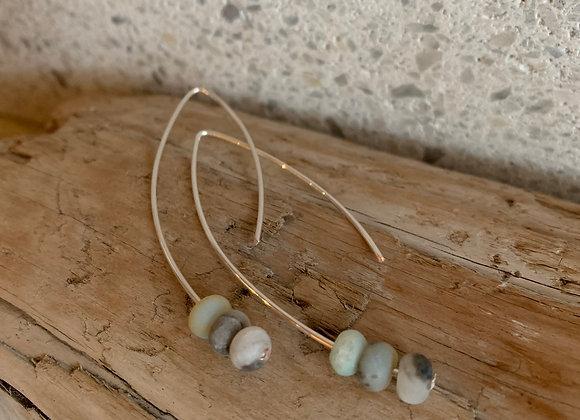 Silver & Amazonite Earrings
