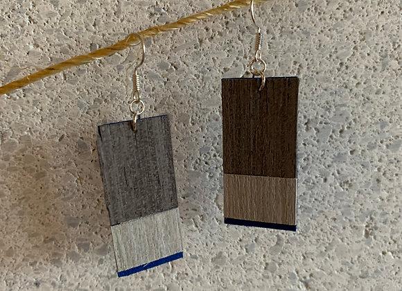 Wood & Suede Earrings