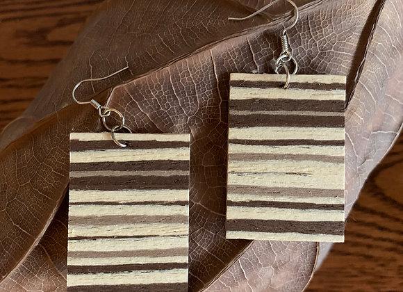 Banded Wood Earrings