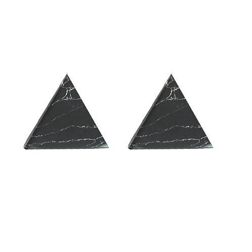 Flat Back Triangle Marble Stud