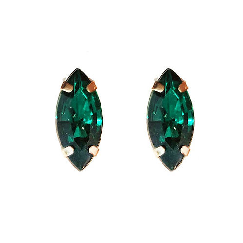 Emerald Oblong Gem Stud