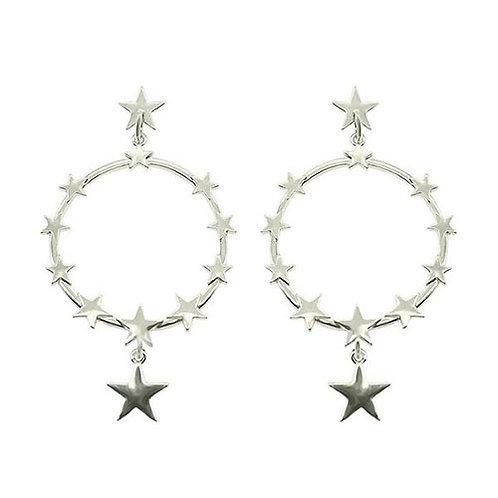 Silver Star Hoop