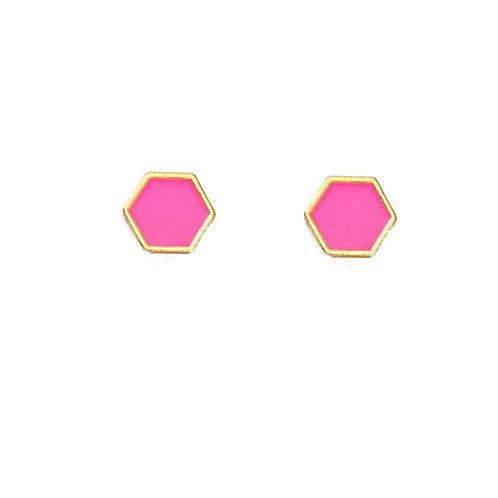 Neon Pink Studs