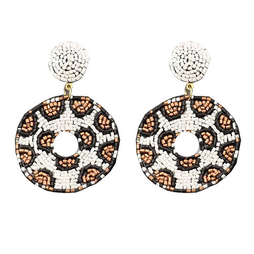 Cheetah Round Beaded