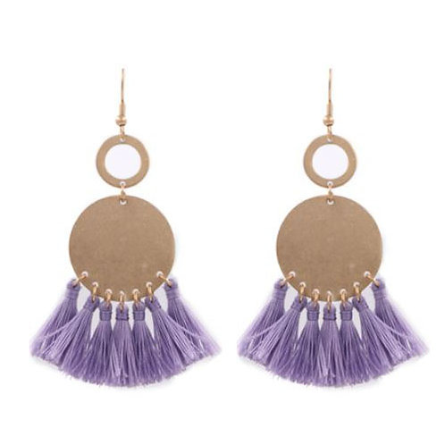 Double Ringed Lilac Tassels