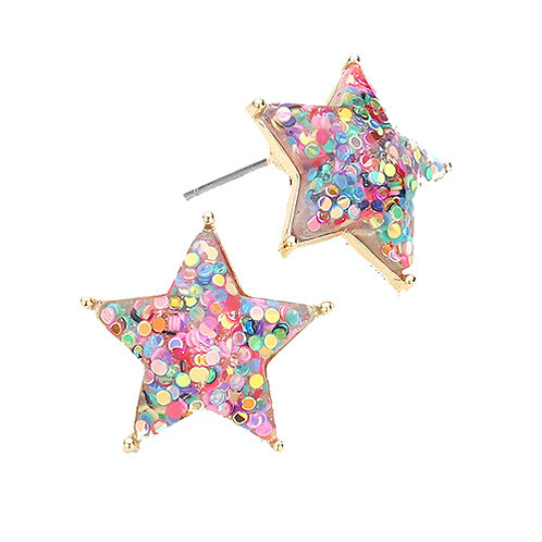 Glitter Stars - Confetti