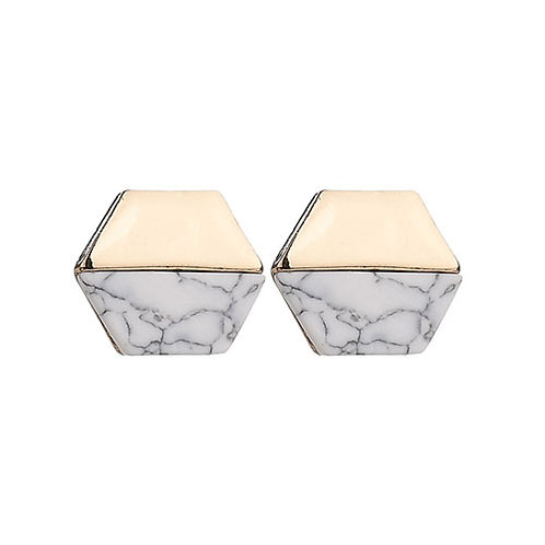 Two-Tone Marble Studs