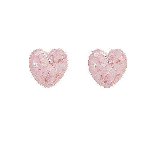 Confetti Pink Studs
