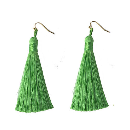 Thick Tassels Electric Green