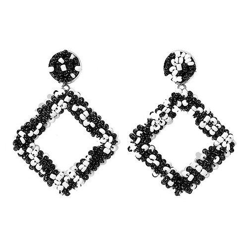 Black & White Beaded Diamond