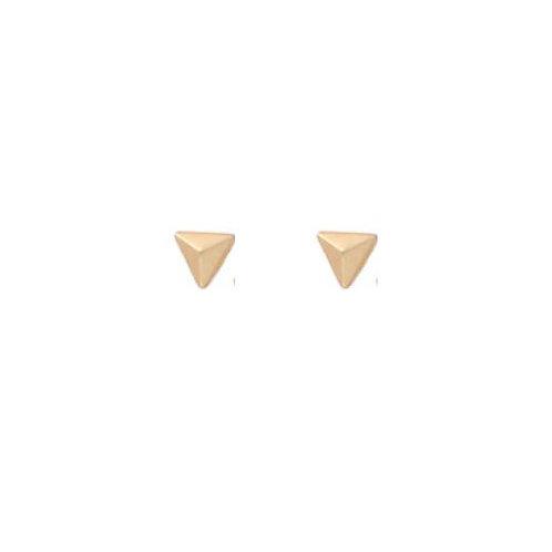 Tiny Raised Triangle Studs