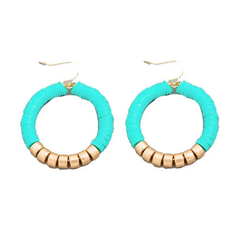 Rubber Slices Teal Circle