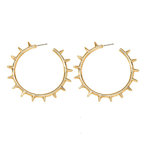 Large Spiked Hoops
