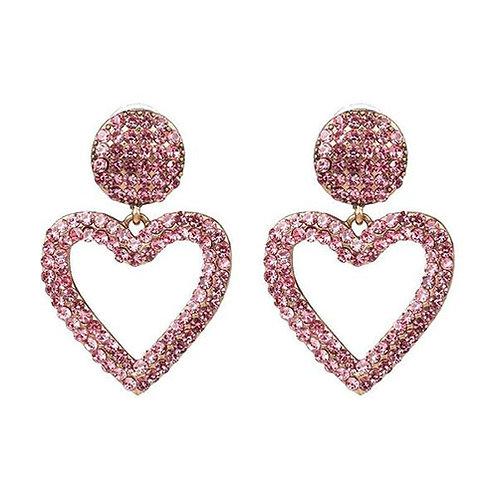 Mini Bling Heart Pink