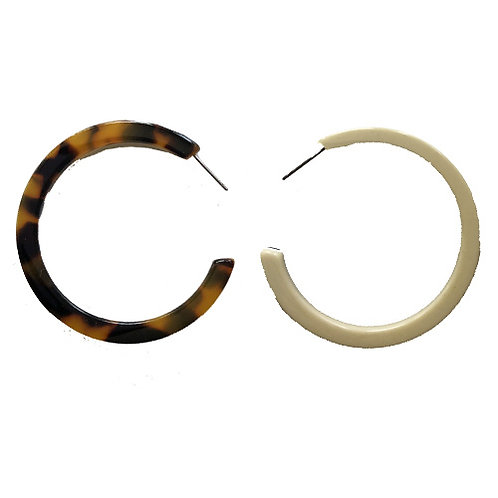 Double Sided Hoops- Tortoise (Large)