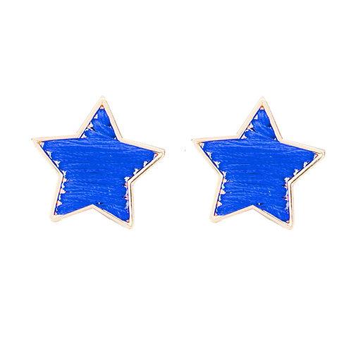 Blue Stitched Stars