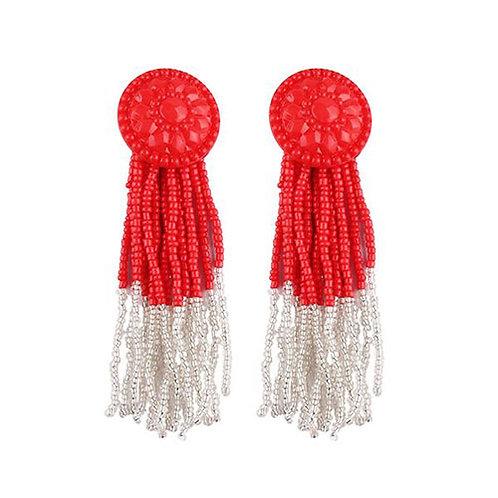 Button Tassel Red