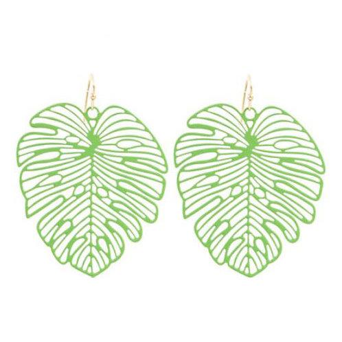 Metal Green Palm Leaf