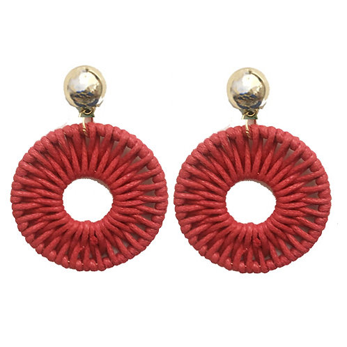 Woven Round - Red