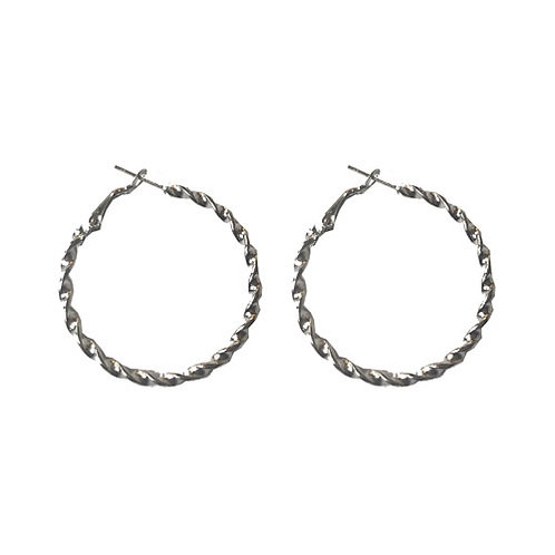 Mini Silver Twisty Hoops
