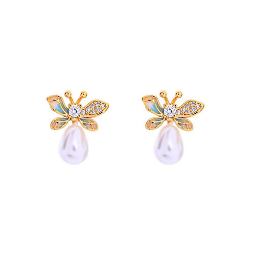 Pearl + Butterfly Studs