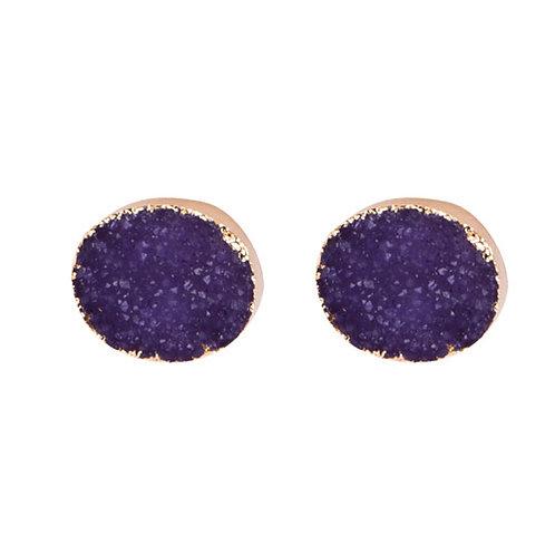 Circle Purple Druzy