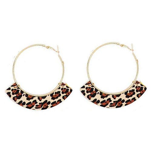 Animal Print Leopard Hoop